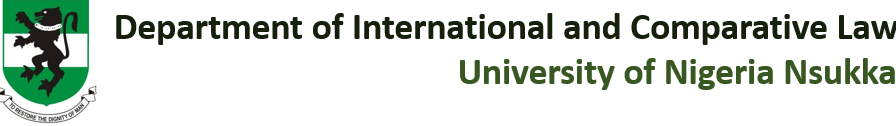 Dept of International & Comparative Law